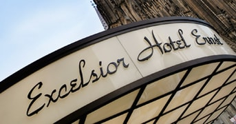 Exterior of Excelsior Hotel Ernst in Cologne, North-Rhein Westphalia, Germany