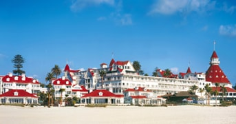 Beach Village and Hotel del Coronado, CA