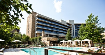Outdoor Pool and Exterior of The Umstead Hotel and Spa, Cary, NC