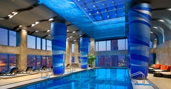 Indoor Pool at Grand Kempinski Hotel Shanghai, China