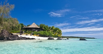 Pacific Resort Aitutaki overlooks the turquoise waters of Aitutaki Lagoon