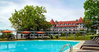Outdoor Pool at The Algonquin Hotel, St Andrews, NB, Canada