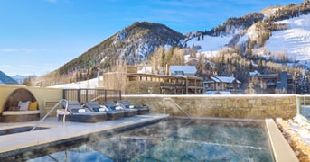 Outdoor Pool at Residences at The Little Nell, Aspen, CO