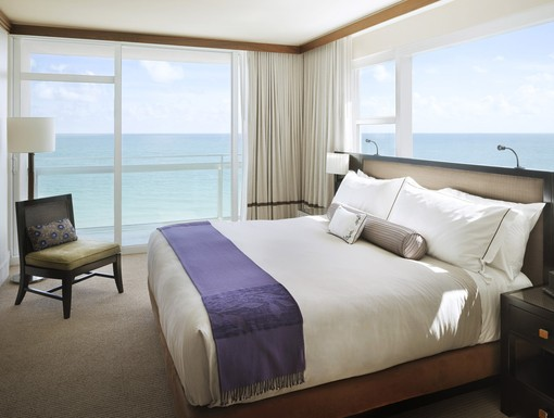 Guest Suite Bedroom at Carillon Hotel Miami Beach, FL