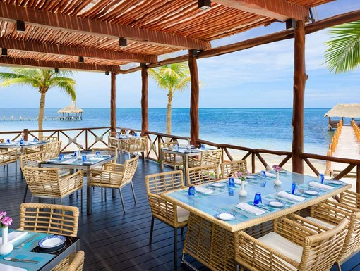 Dine by the beach at Azul Beach Resort Riviera May, a