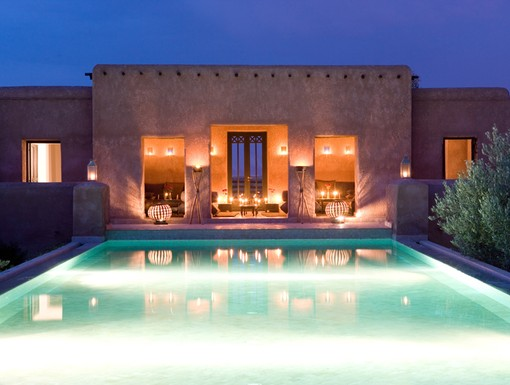 Pool by Night at Grace Marrakech