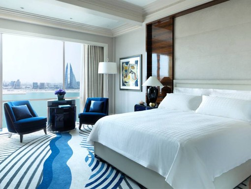 Guest Room at The Four Seasons Hotel Bahrain Bay.