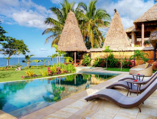 Beachfront grand pool villa with private pool, Pacific Harbour, Fiji Islands