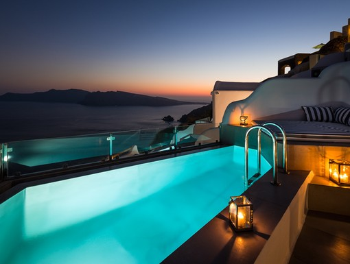 Pool at Elite Luxury Suites Santorini, Greece