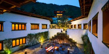Courtyard of COMO Uma Paro, Paro, Bhutan