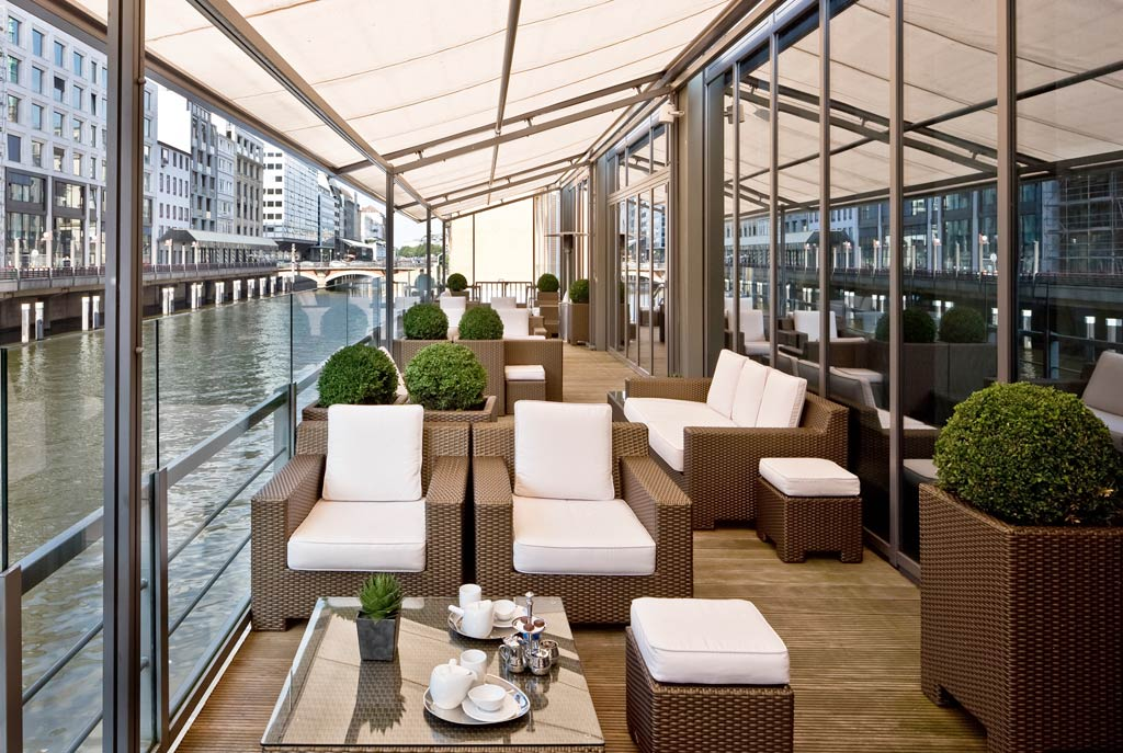 Lounge with Surrounding Water Views at Sofitel Hamburg Alter Wall, Hamburg, Germany