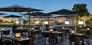 Outdoor Dine at Armani Hotel Dubai, Dubai, United Arab Emirates