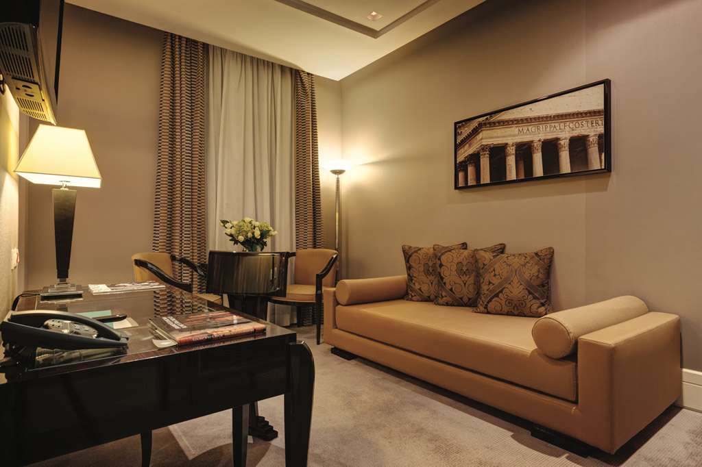Suite Lounge at Grand Hotel Via Veneto, Rome, Lazio, Italy