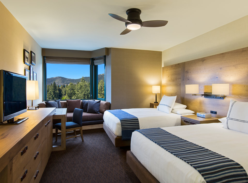Deluxe Double Queen Guest Room at Hyatt Regency Lake Tahoe Resort Spa and Casino, Incline Village, NV
