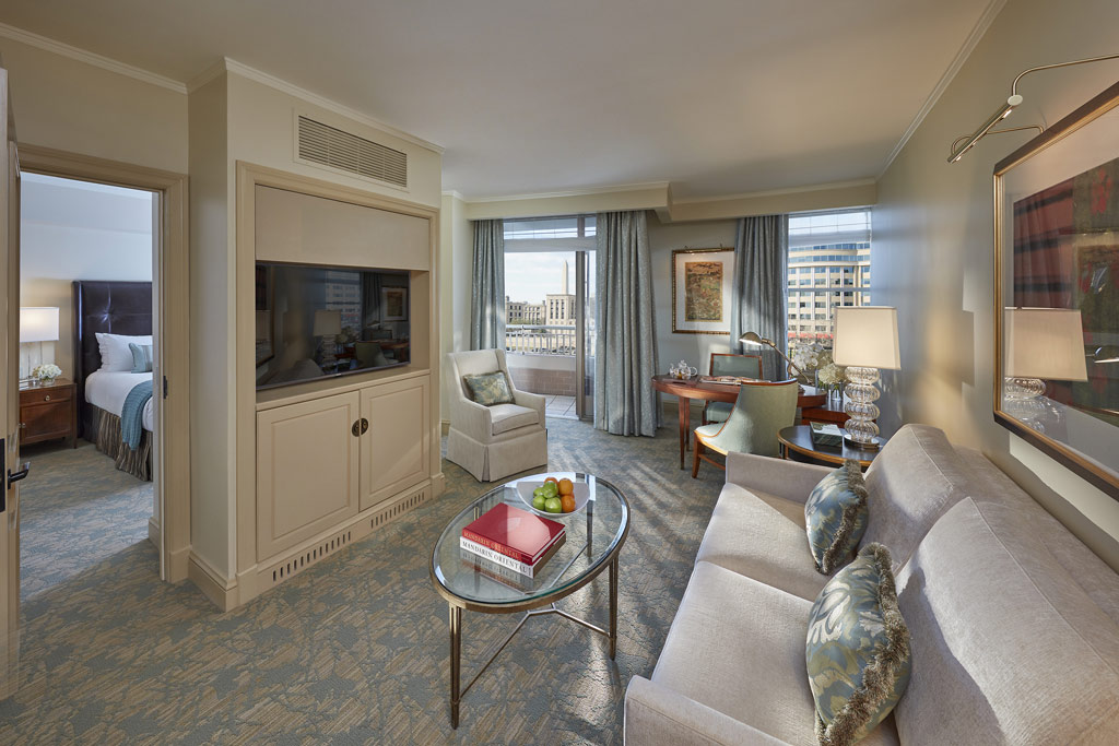 Executive City View Suite Living Room at Mandarin Oriental Washington, DC, United States