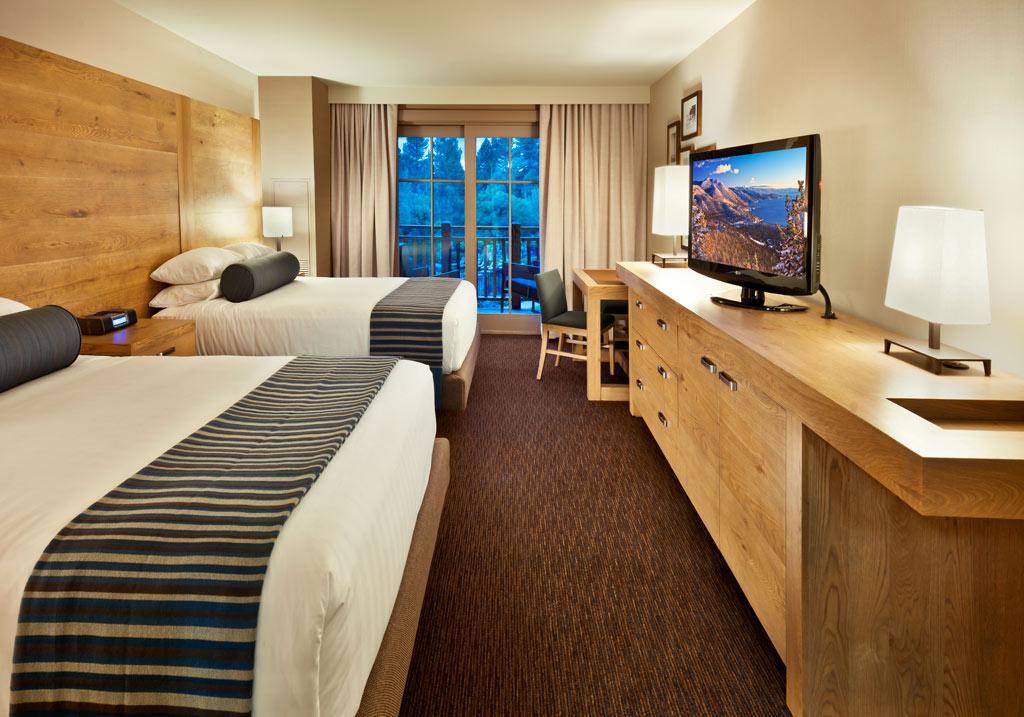 Double Guest Room at Hyatt Regency Lake Tahoe Resort Spa and Casino, Incline Village, NV