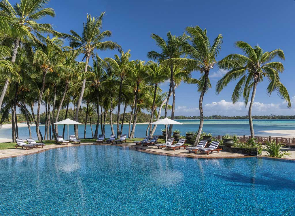 Main Pool at Shangri-La's Le Touessrok Resort, Trou d'Eau Douce, Mauritius