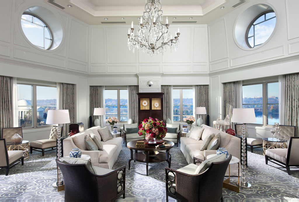 Presidential Suite Living Room at Mandarin Oriental Washington, DC, United States