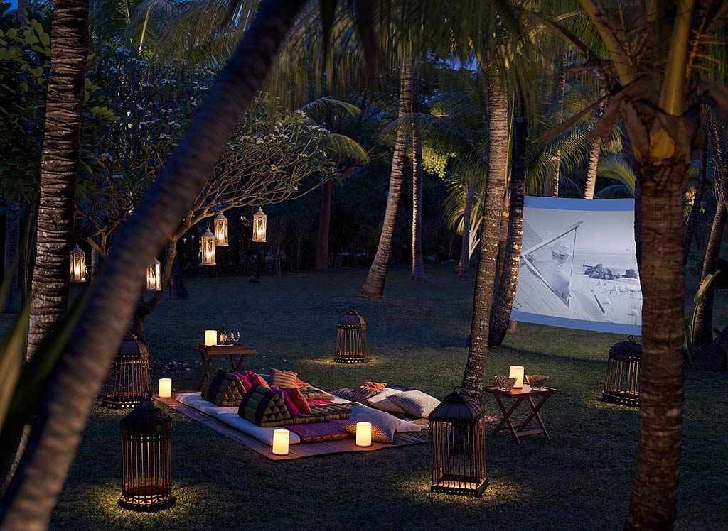 Enjoy the Outdoor Cinema at Shangri-La's Le Touessrok Resort, Trou d'Eau Douce, Mauritius