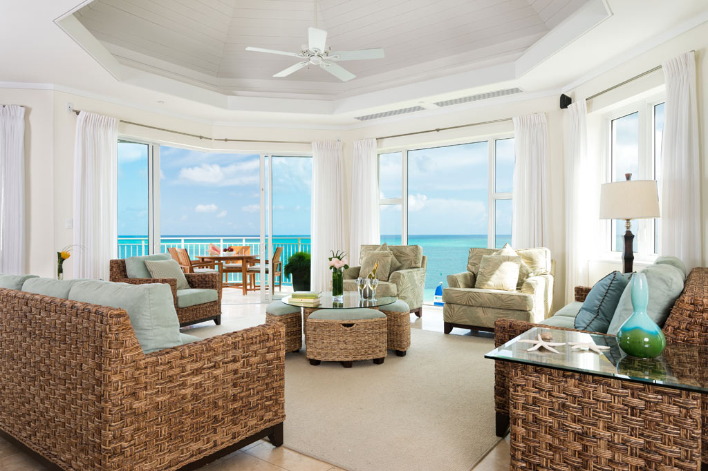 Three Bedroom Ocean Front Suite Living at The West Bay Club, Providenciales, Turks & Caicos Islands