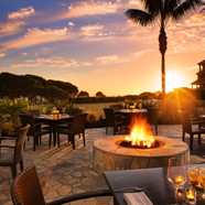 Fire Pit at Marriott Laguna Cliffs, Dana Point, CA