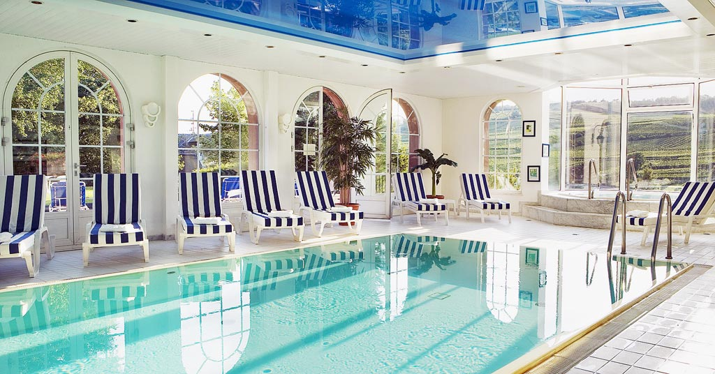 Indoor Pool at Chateau D'Isenbourg, Rouffach, France