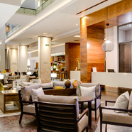 Lobby and Lounge at Marriott Crystal Towers, Cape Town, South Africa