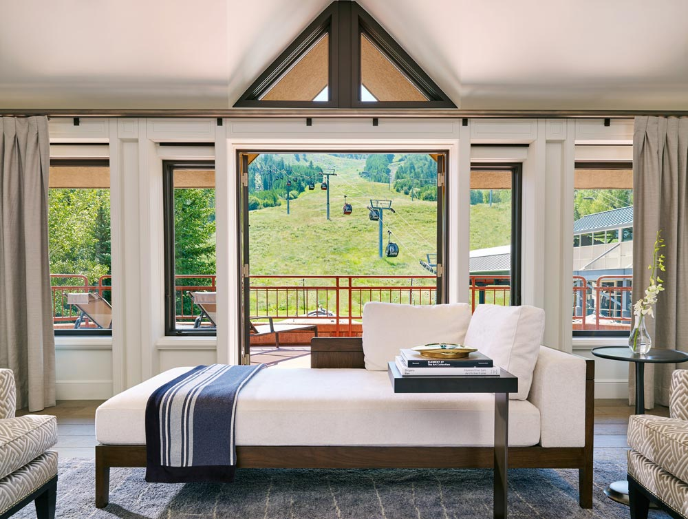 Guest Room with Views at The Little Nell, Aspen, CO
