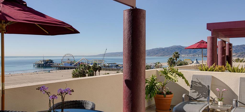 Guest Room with Terrace Views at Santa Monica Le Merigot, Santa Monica, CA
