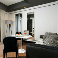 Luxury Suite Lounge at Corso 281, Rome Italy