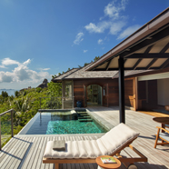 Pool Villa Deck with Views at Six Senses Zil Pasyon, Victoria, Mahé, Seychelles