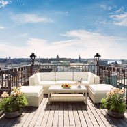 Tower Suite Terrace at Radisson Blu Strand Hotel Stockholm, Sweden