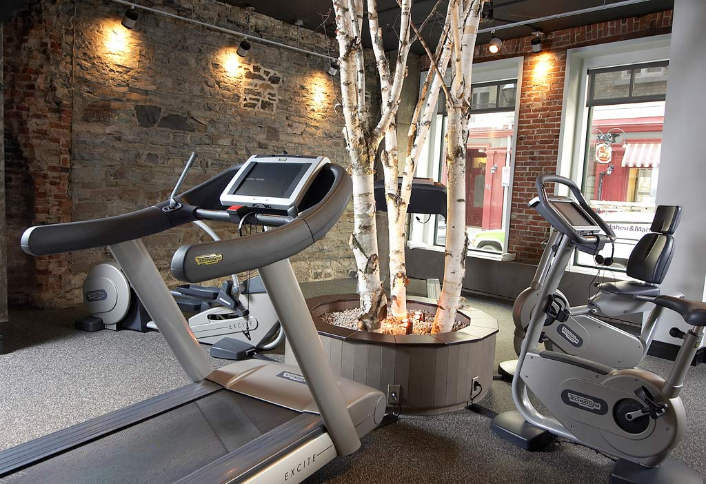 Le Gym at Auberge Saint-Antoine, Quebec City, PQ, Canada