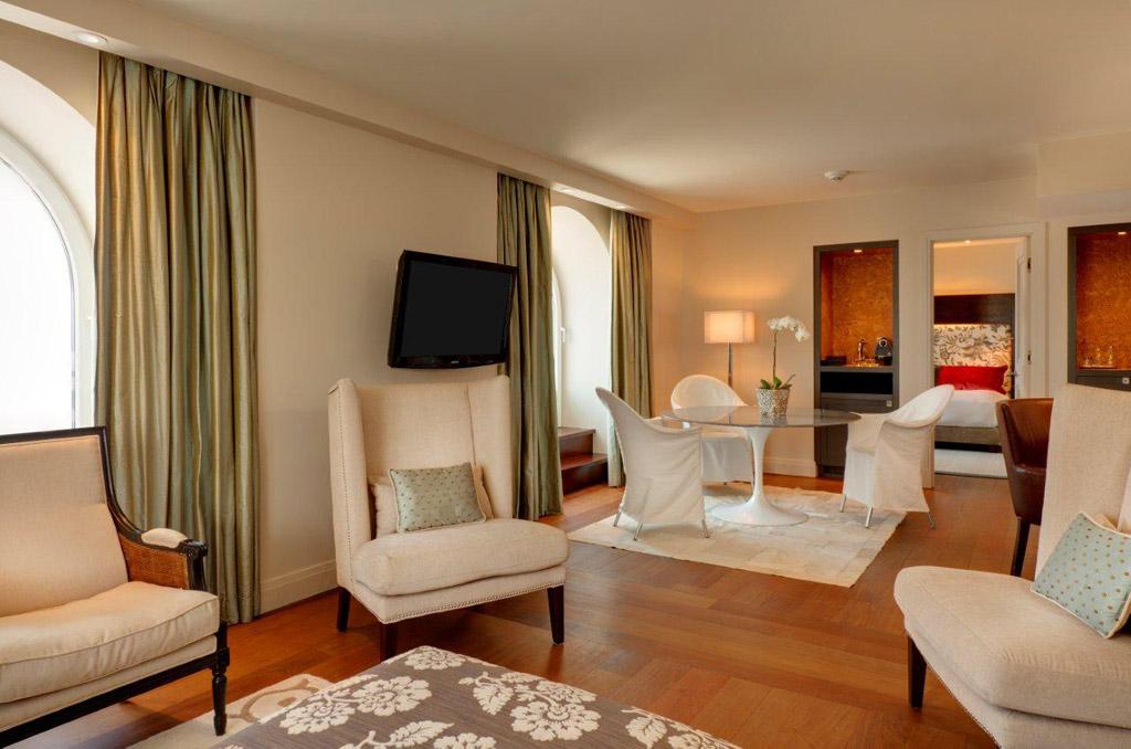Suite Living Room at Auberge Saint-Antoine, Quebec City, PQ, Canada
