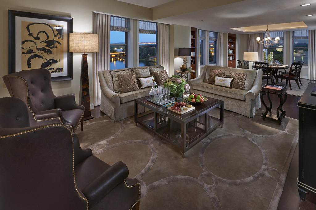 Jefferson Suite Living Room at Mandarin Oriental Washington, DC, United States