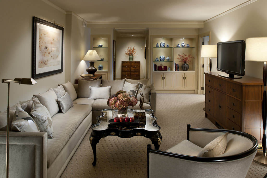 Mandarin Suite Living Room at Mandarin Oriental Washington, DC, United States
