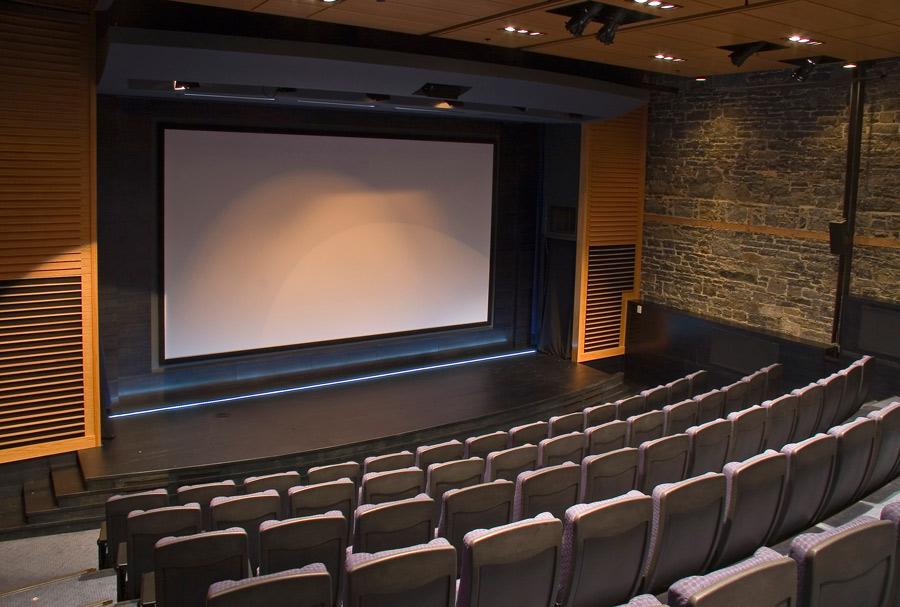 Auditorium of Auberge Saint-Antoine, Quebec City, PQ, Canada