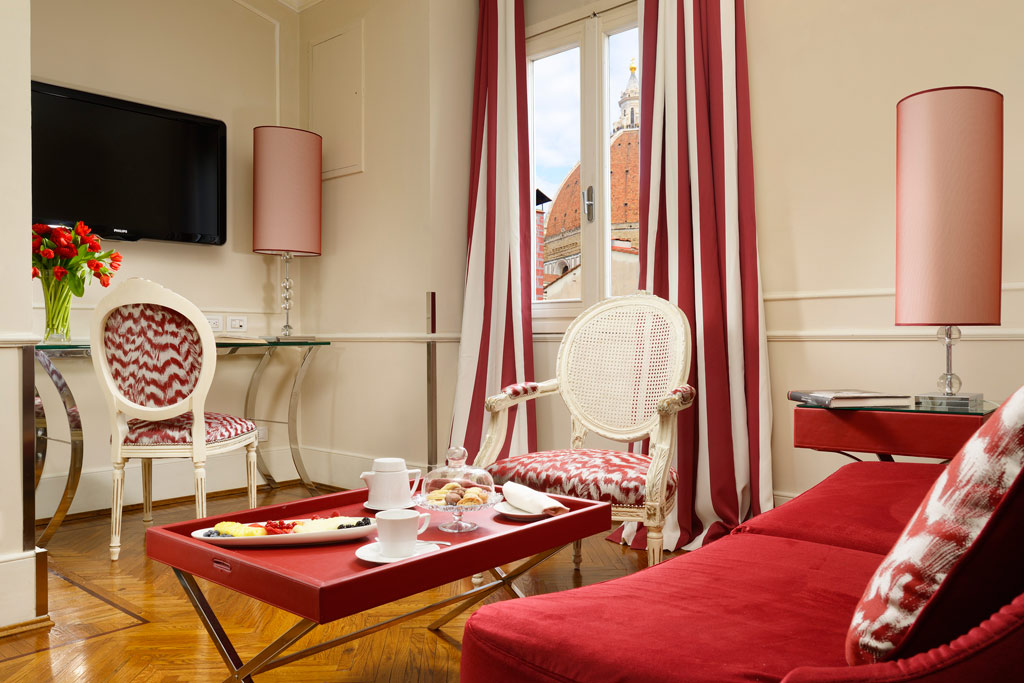 Bargello Suite Living with Views at Brunelleschi Hotel Florence, Italy