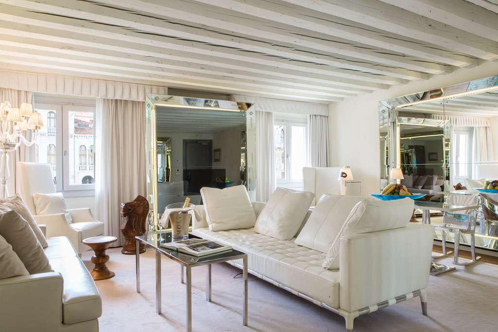 Canal Suite Living Room at Palazzina G, Venice, Italy