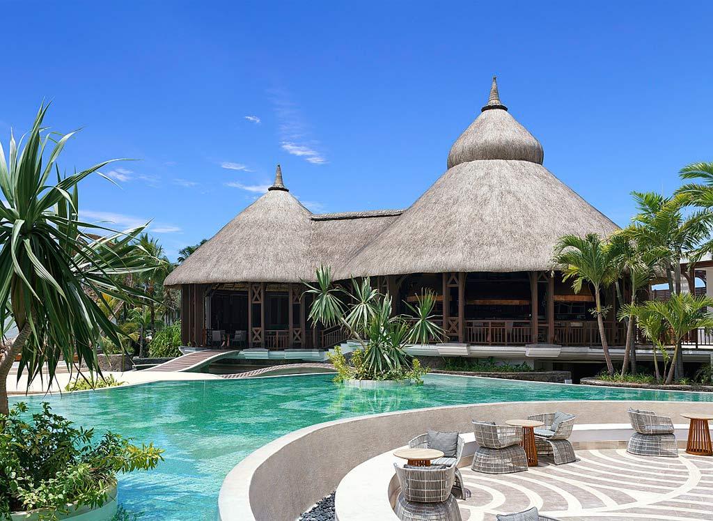 Poolside Lounge at Shangri-La's Le Touessrok Resort, Trou d'Eau Douce, Mauritius