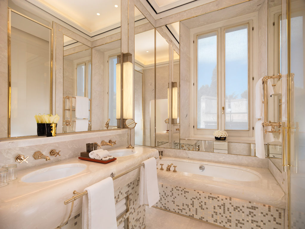 Suite Bath at Hotel Eden Rome, Italy