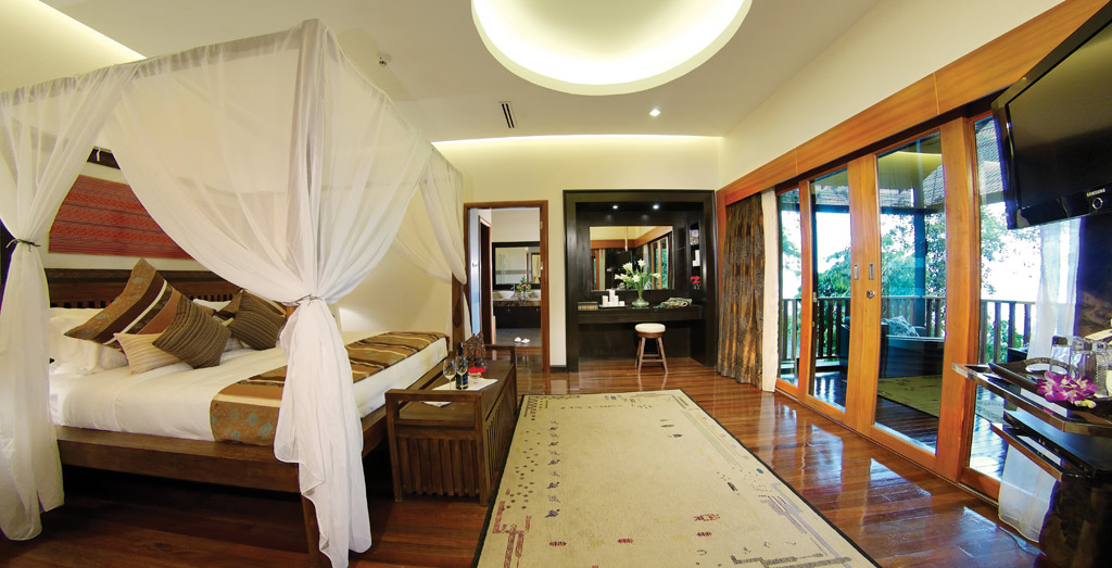 Three Bedroom Deluxe Suite at Bunga Raya Island Resort and Spa, Kota Kinabalu, Malaysia