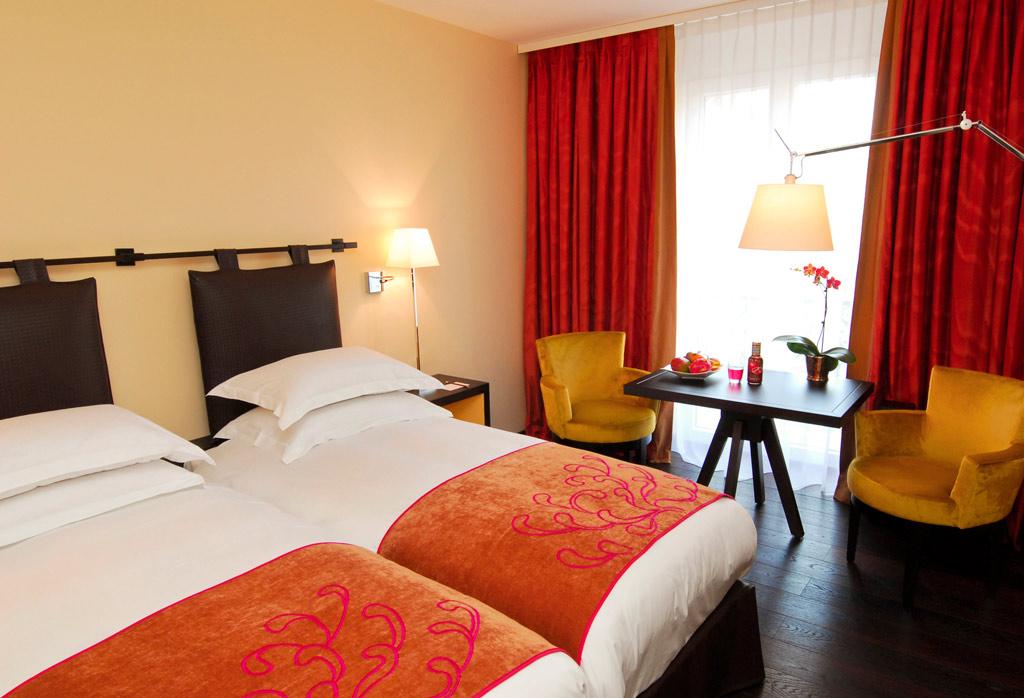 Twin Guest Room at Eastwest Hotel, Geneva, Switzerland