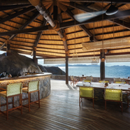 Ocean Kitchen Dining Room at Six Senses Zil Pasyon, Victoria, Mahé, Seychelles