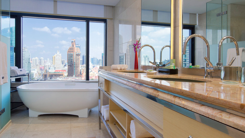 Executive Suite Bath at The Westin Bund Center, Shanghai, China