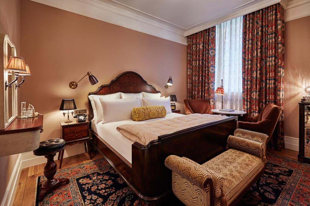 Guest room at The Ned