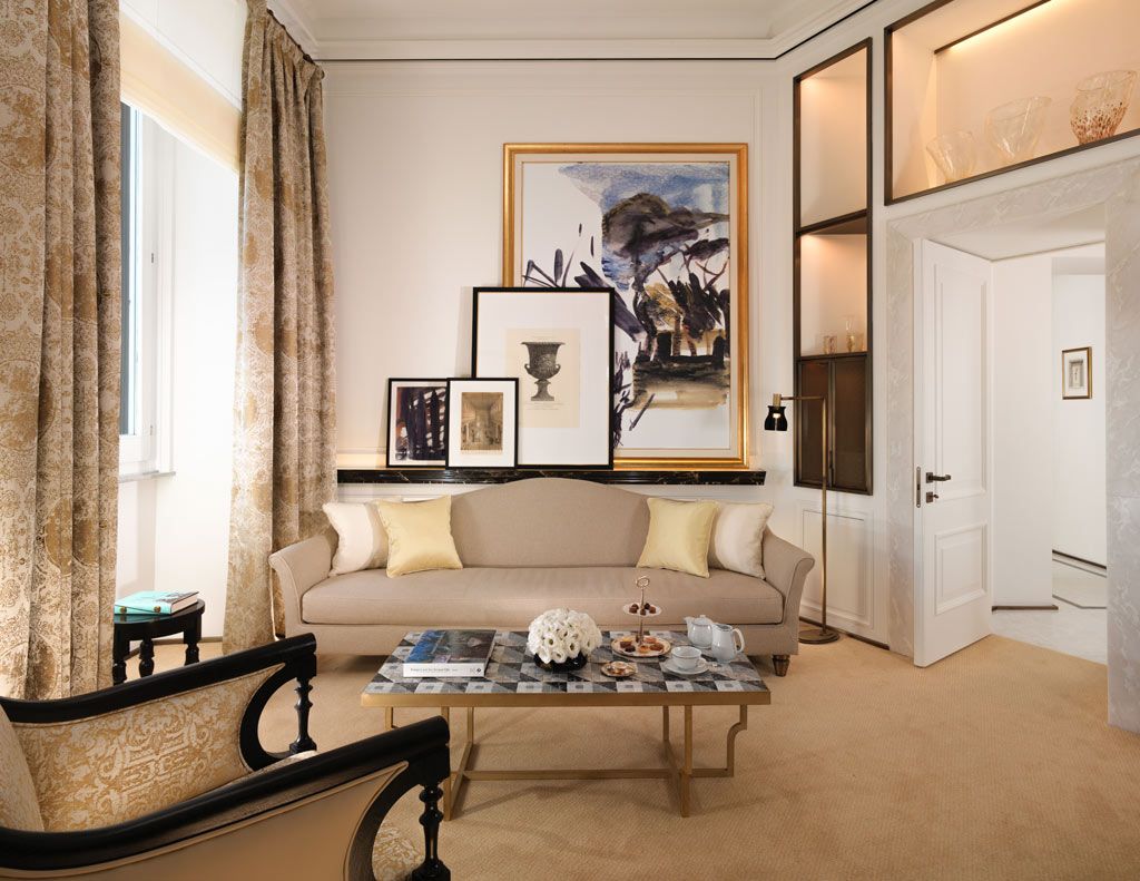 Suite Lounge at Hotel Eden Rome, Italy
