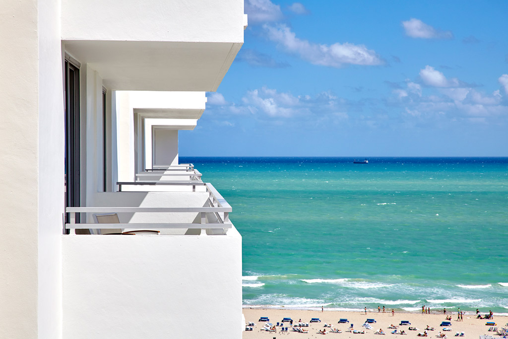 Guest Room Views at Loews Miami Beach Hotel, Miami Beach, FL