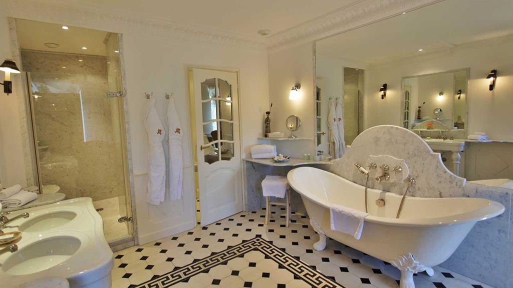 Guest Bath at Chateau de Mirambeau, France