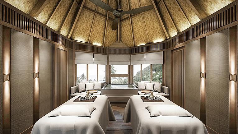 Spa Cabin at Conrad Bora Bora Nui, Bora Bora, French Polynesia